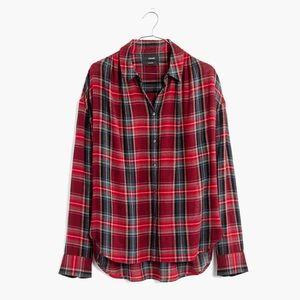 MADEWELL Long Sleeve Central Shirt in Tartan Plaid